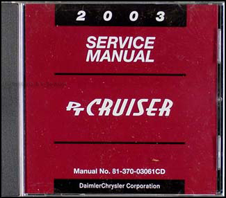 2003 Chrysler PT Cruiser CD-ROM Shop Manual Original