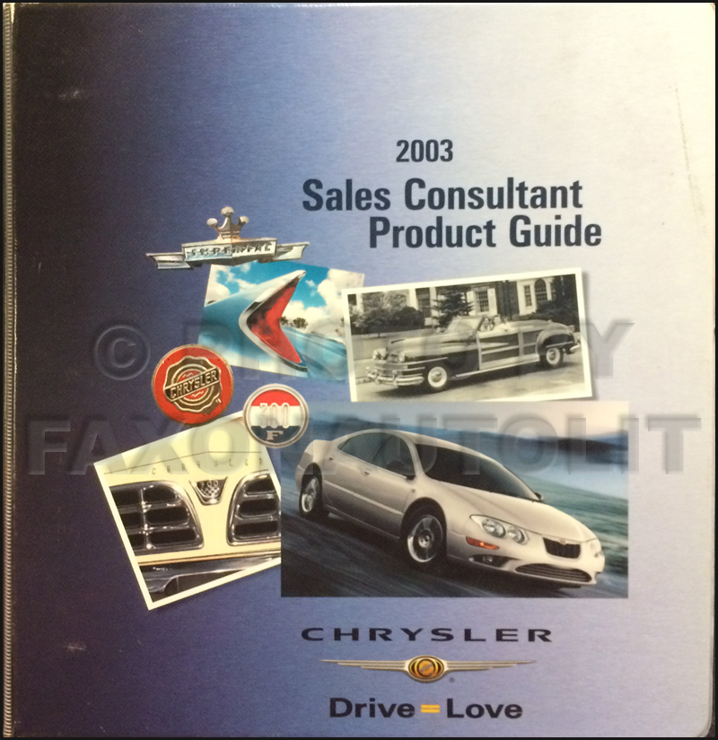 2003 Chrysler Color and Upholstery Dealer Album and Data Book Original