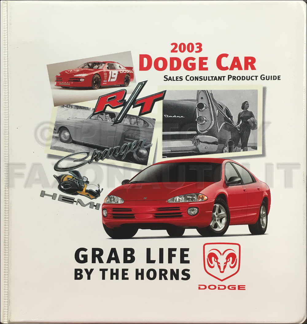 2003 Dodge Car Color and Upholstery Dealer Album and Data Book Original