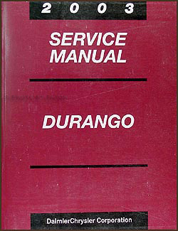 2003 Dodge Durango Repair Manual CD-ROM Original