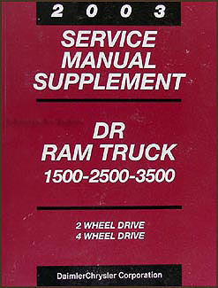 2003 Dodge Diesel Ram Truck 47RE Automatic Transmission Repair Shop Manual