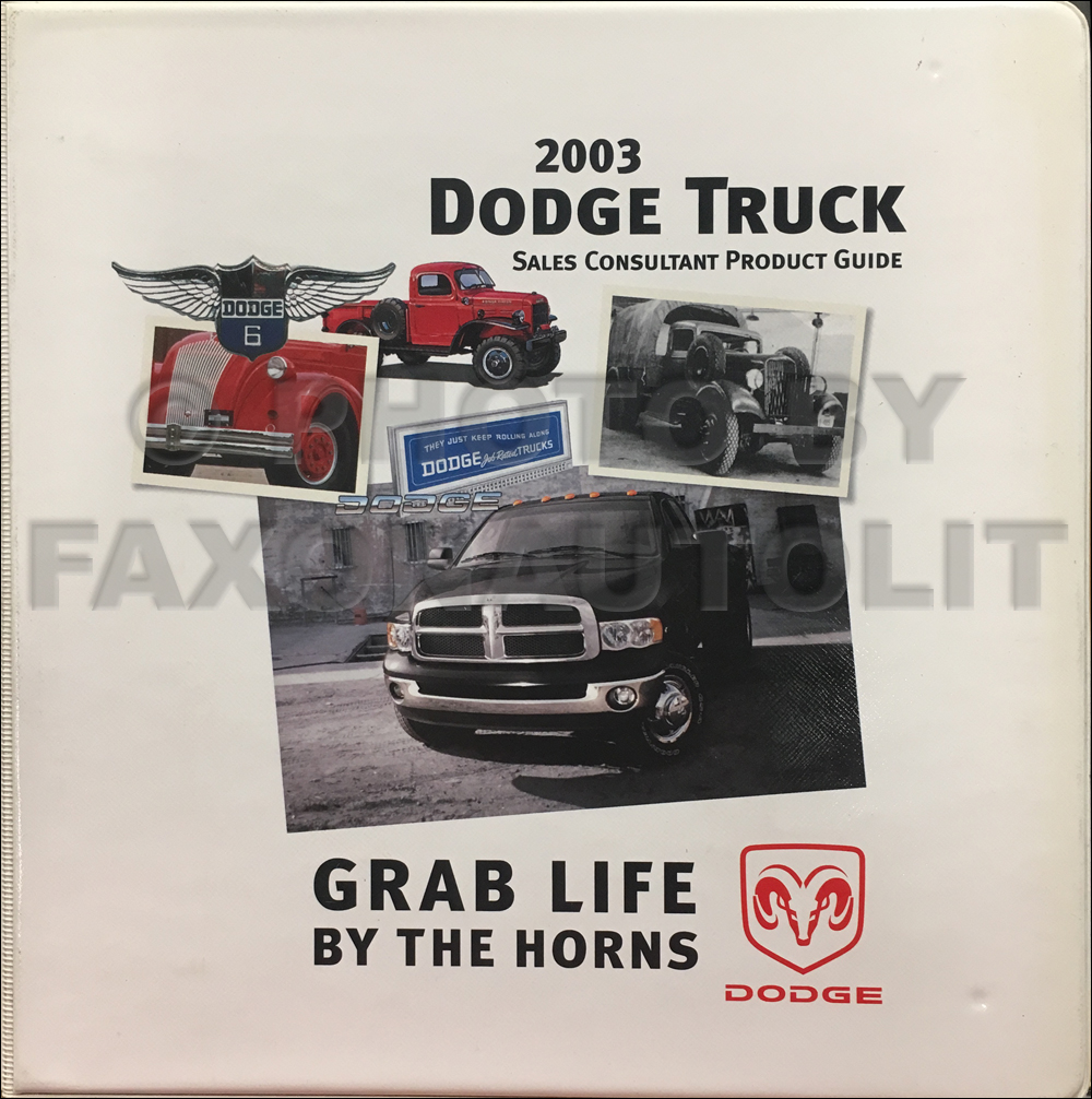 2003 Dodge Truck Data Book and Color & Upholstery Album Original