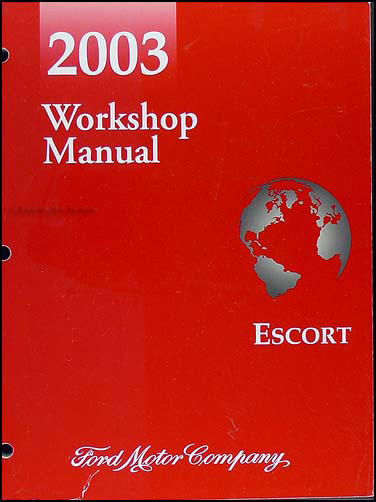 2003 Ford ZX-2 Escort Shop Manual Original