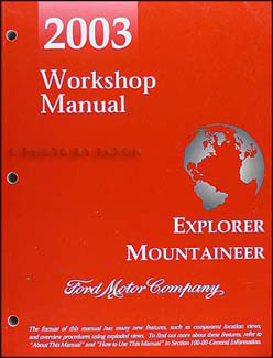 2003 Ford Explorer & Mercury Mountaineer Repair Manual Original