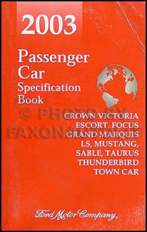 2003 Crown Victoria Marauder Grand Marquis Original Wiring Diagram Manual