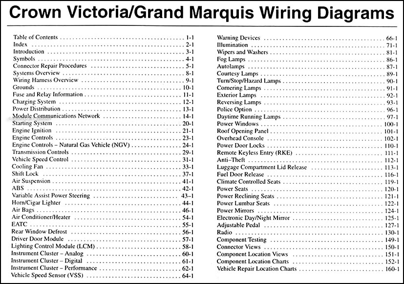 2003 Crown Victoria, Marauder & Grand Marquis Original Wiring ... on ford econoline van wiring diagram, ford thunderbird wiring diagram, ford flex wiring diagram, ford crown victoria headlight switch, 1937 ford wiring diagram, ford crown victoria radio, ford crown victoria circuit, ford crown victoria workshop manual, ford aspire wiring diagram, ford crown victoria belt diagram, ford crown victoria battery, ford crown victoria coil, ford fairlane wiring diagram, 1960 ford wiring diagram, ford f-250 super duty wiring diagram, 2002 ford explorer air conditioning diagram, ford crown victoria fuel system, ford crown victoria rear suspension, ford aerostar wiring diagram, ford crown victoria clock,