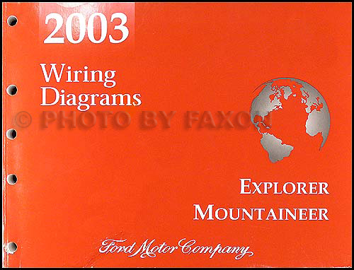 2003 mountaineer and explorer 4 door wiring diagram manual original  faxon auto literature