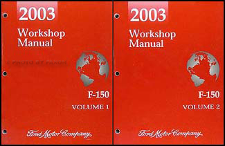 2003 Ford F-150 Repair Manual Original 2 Volume Set