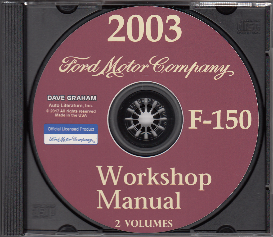 2003 Ford F-150 Pickup Truck Repair Shop Manual on CD-ROM Original
