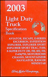 2003 Ford Truck SUV and Van Service Specifications Book Original