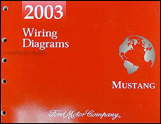 2003 ford mustang wiring diagram manual original  faxon auto literature