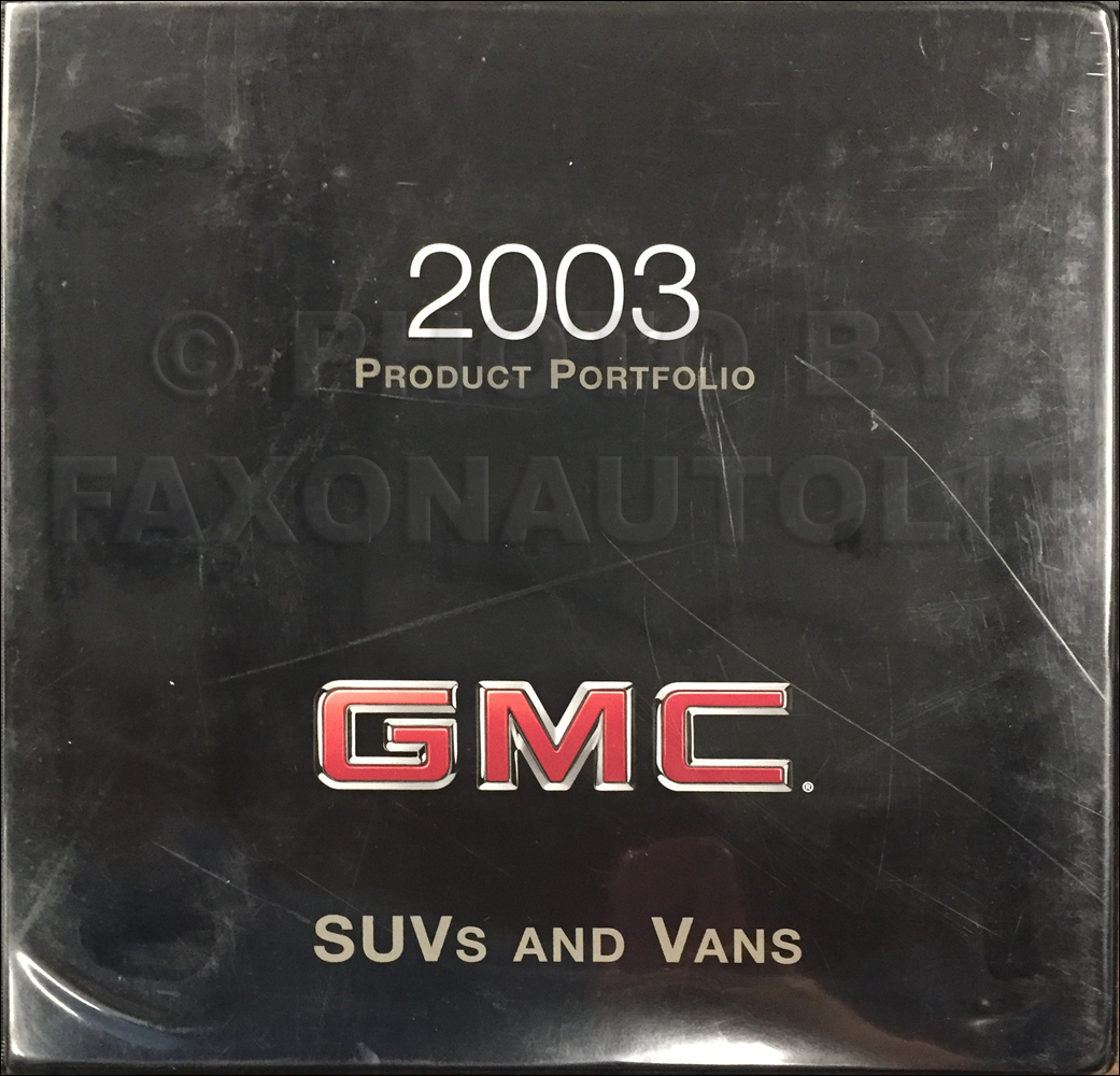 2003 GMC SUV & Van Color & Upholstery Dealer Album/Data Book Original