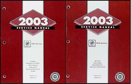 2003 Buick Park Avenue Repair Manual Original 2 Volume Set