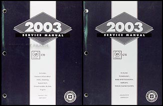 2003 Cadillac CTS Repair Manual 2 Original Volume Set