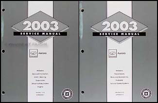 2003 Olds Aurora Repair Manual Original 2 Volume Set