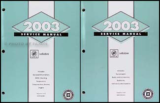 2003 Buick Le Sabre Repair Manual Original 2 Volume Set