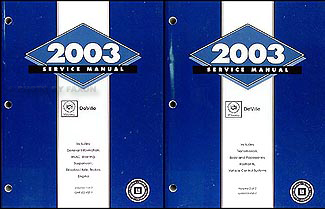 2003 Cadillac Deville Repair Manual Original 2 Volume Set