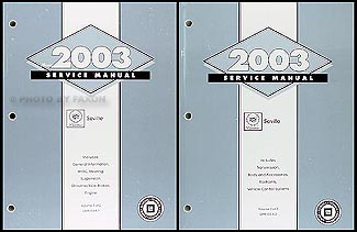 2003 Cadillac Seville Repair Manual Original 2 Volume Set