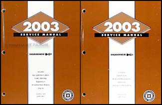 2003 Hummer H2 Repair Manual 2 Volume Set Original