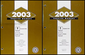 2003 Grand Am/Alero Repair Manual Original 2 Volume Set