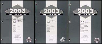 2003 Trailblazer, Envoy, Bravada Repair Manual Original 3 Volume Set