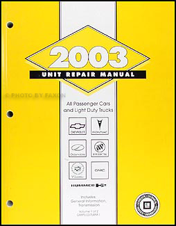 2003 GM Automatic Transmission Overhaul Manual Original