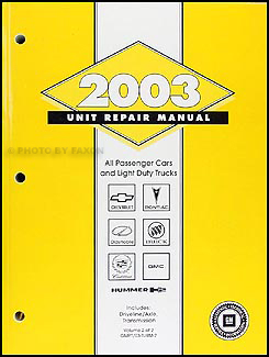 2003 GM Manual stick Transmission & 4x4 Transfer Case Overhaul Manual