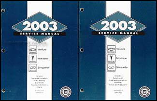 2003 Venture Montana Silhouette Repair Manual Original 2 Volume Set
