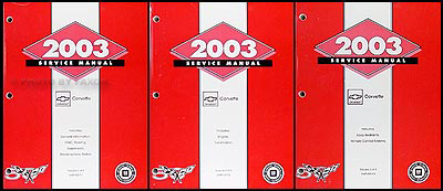 2003 Chevrolet Corvette Repair Manual Original 3 Volume Set