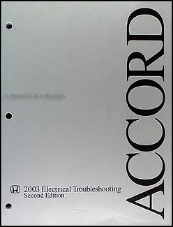 2003-2004 Honda Accord Electrical Troubleshooting Manual Original | Hvac Wiring Diagram For 2004 Honda Accord Lx |  | Faxon Auto Literature