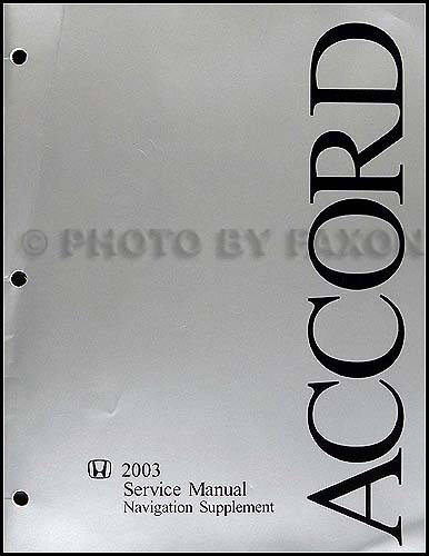 2003 Honda Accord Electrical Troubleshooting Manual Original