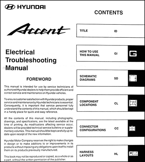 2003 hyundai accent electrical troubleshooting manual original 2003 hyundai accent antenna 2003 hyundai accent wiring schematic #2