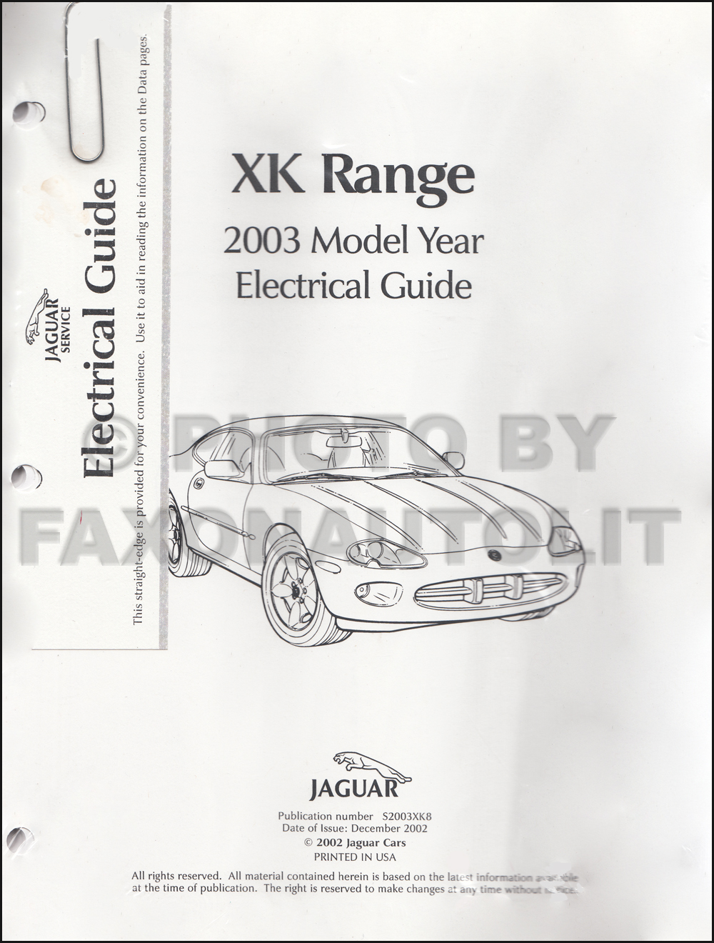 2003 jaguar xk8 and xkr electrical guide wiring diagram. Black Bedroom Furniture Sets. Home Design Ideas