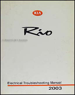 2003 Kia Rio Electrical Troubleshooting Manual Original