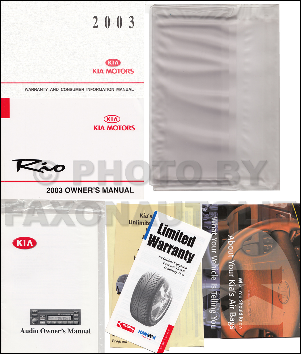 2003 Kia Rio Owners Manual Original