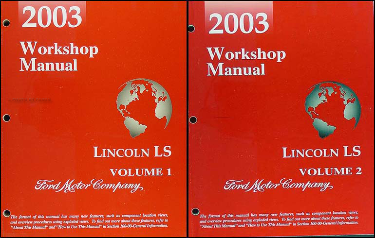 2003 Lincoln LS Shop Manual 2 Volume Set Original