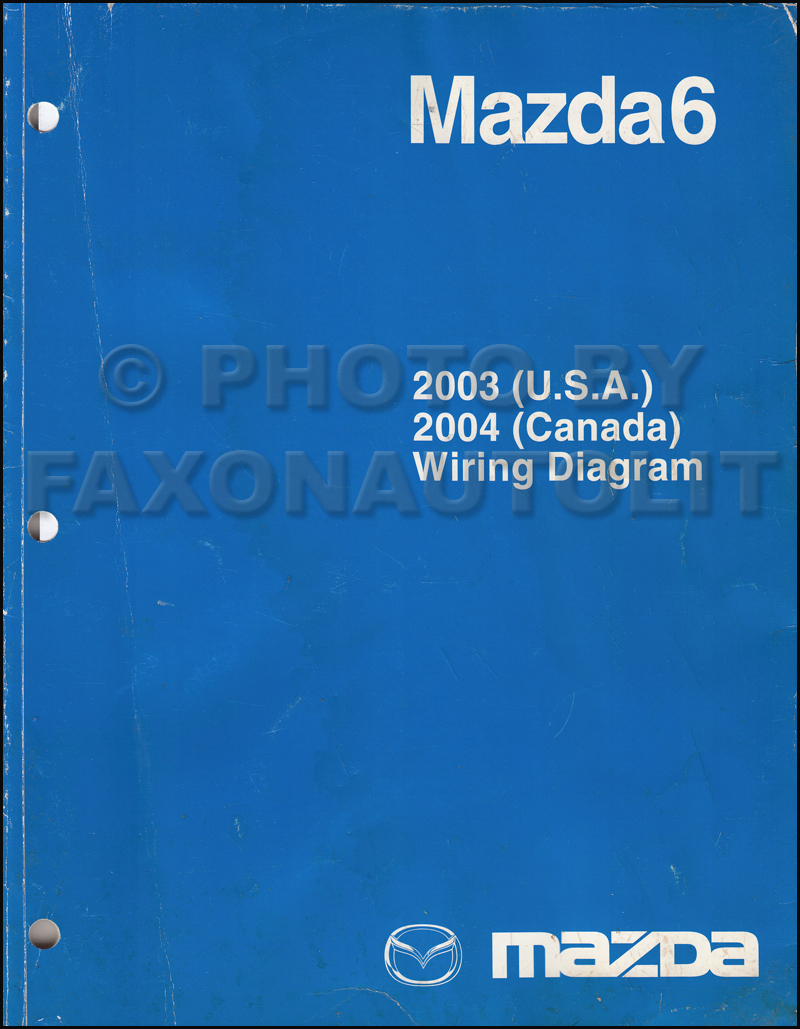 2003 Mazda6 Original Wiring Diagram (and 2004 Canada Mazda 6)