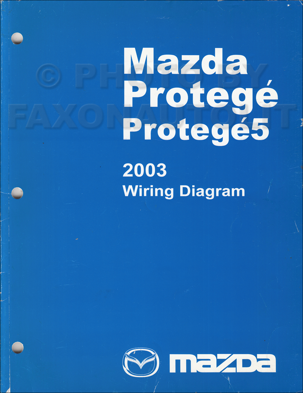 2003 Mazda Protege and Protege5 Wiring Diagram Manual Original