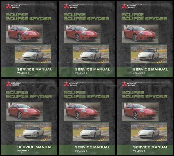 2003 Mitsubishi Eclipse and Spyder Original Repair Shop Manual 6 Vol. Set