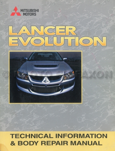 2003-2005 Mitsubishi Lancer Evolution Technical Information and Body Manual