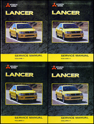 2003 Mitsubishi Lancer Repair Manual Original 4 Vol. set