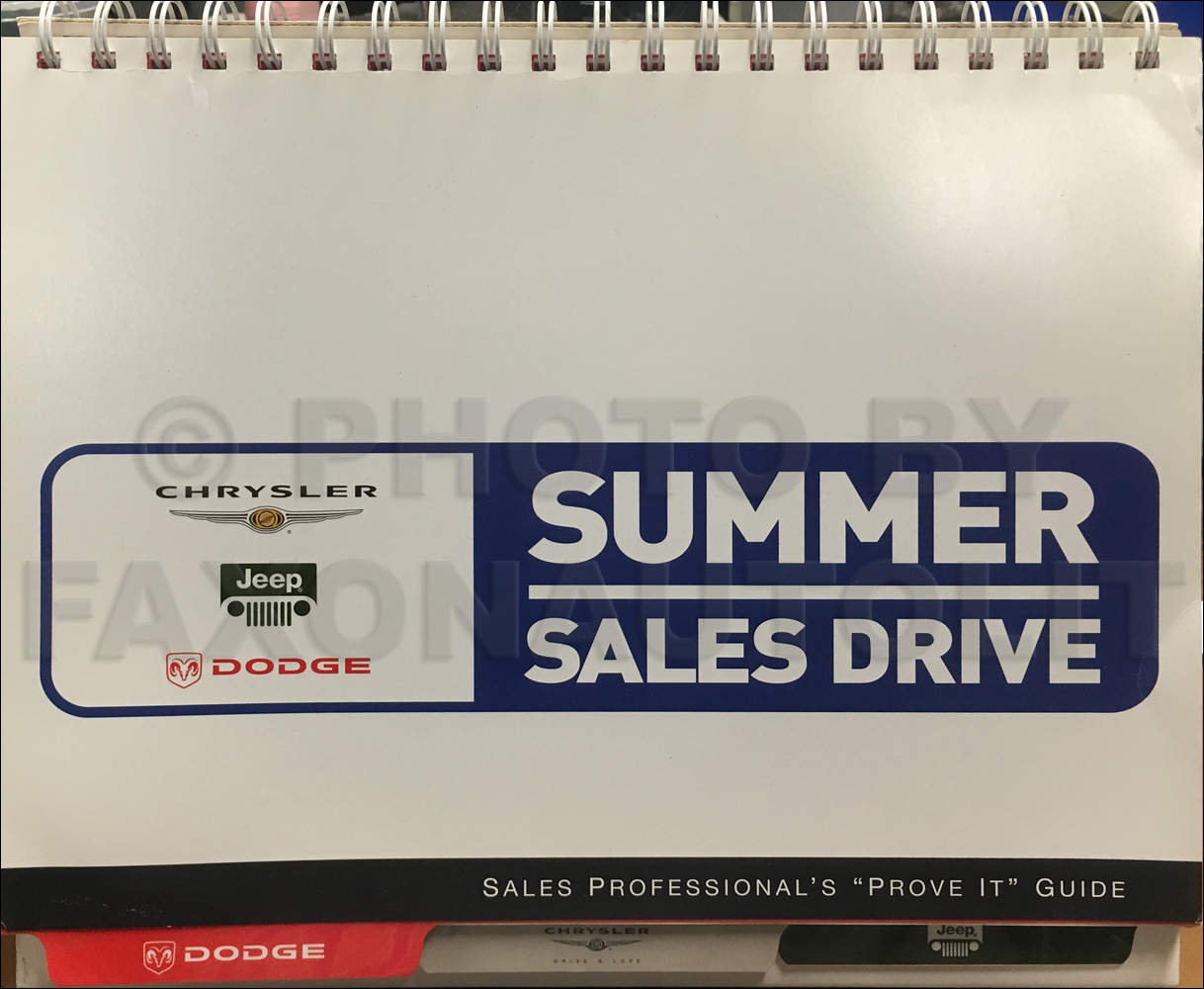 "2003 Mopar Sales Professional's ""Prove It"" Guide Original"