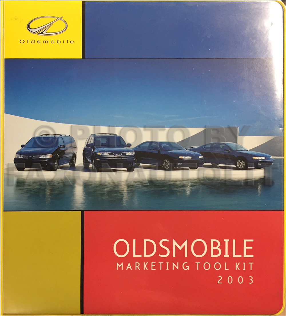 2003 Oldsmobile Marketing Ad Planner Original