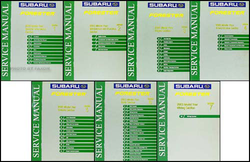 2003 Subaru Forester Repair Manual Original 7 Volume Set