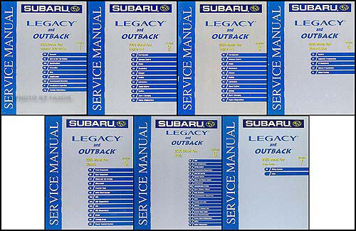 2003 Subaru Legacy and Outback Repair Manual Set Original