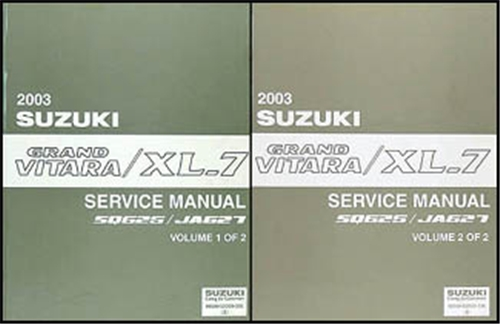2003 Suzuki Grand Vitara & XL-7 Repair Shop Manual Set Original on suzuki grand vitara radio, suzuki grand vitara drive shaft, suzuki grand vitara oil filter, 2000 suzuki vitara wiring diagram, suzuki grand vitara antenna, suzuki samurai wiring diagram, suzuki grand vitara lighting diagram, suzuki grand vitara parts catalog, suzuki grand vitara parts location, suzuki grand vitara lights, suzuki grand vitara engine, suzuki x90 wiring diagram, suzuki grand vitara dimensions, suzuki grand vitara voltage regulator, suzuki sierra wiring diagram, suzuki grand vitara cover, suzuki grand vitara tires, suzuki xl7 wiring diagram, suzuki grand vitara headlight, suzuki grand vitara exhaust system diagram,