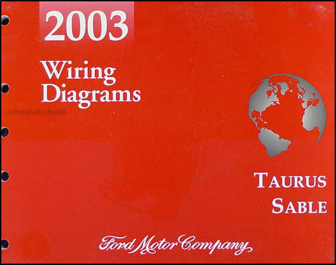 2003 Ford Taurus & Mercury Sable Wiring Diagrams Manual Original
