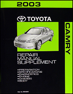 2003 Toyota Camry Mid Year Repair Manual Supplement Original