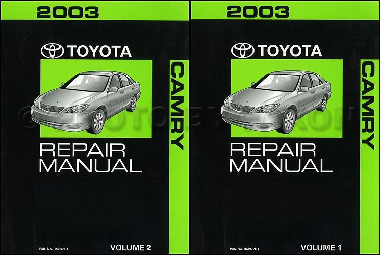 2003 toyota camry repair shop manual 2 volume set original 2003 toyota camry diagram catalogue