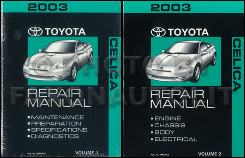 2001 Toyota Celica Repair Manual Original